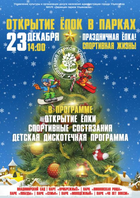 23 декабря 14.00 во Владимирском саду состоится веселый праздник «Праздничная ёлка! Спортивная жизнь!»